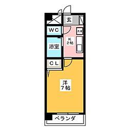 エクセルシオール旗屋[2階]の間取り
