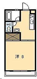 ピュアコート清武[201号室]の間取り