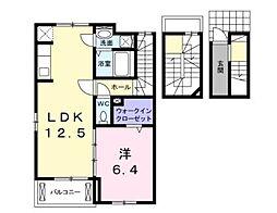 ベストウォール アヅチI[3階]の間取り