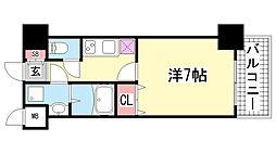 スワンズ新神戸ウィータ[503号室]の間取り