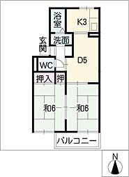 アベニュー11 A・B棟[2階]の間取り