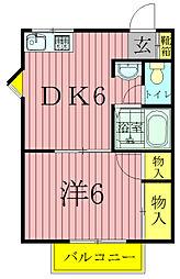 サンコーポ(松葉町)[1階]の間取り