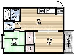 MKマンション[3階]の間取り