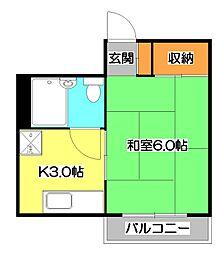 榎本ビル[3階]の間取り