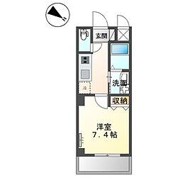 JR阪和線 三国ヶ丘駅 徒歩7分の賃貸マンション 2階1Kの間取り