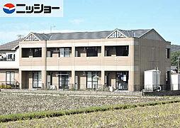 岐阜県可児市平貝戸の賃貸アパートの外観