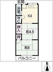 コーポ分地[2階]の間取り