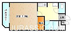 大阪府堺市北区東浅香山町2丁の賃貸マンションの間取り