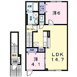 Bros.234[2階]の間取り