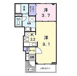 HINOKI(ヒノキ)[101号室]の間取り