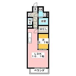 アルティザ東島田[8階]の間取り