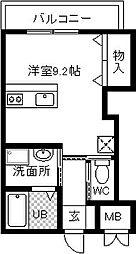 フォレストコートサンポン[3階]の間取り