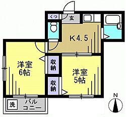 サンハイム・ミヤ[3階]の間取り
