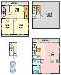 [一戸建] 東京都江戸川区西小岩4丁目 の賃貸【/】の間取り
