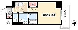 エスリード名古屋東別院 7階1Kの間取り