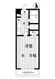 東京都練馬区貫井の賃貸マンションの間取り