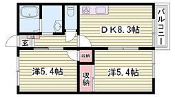 兵庫県神戸市西区岩岡町岩岡の賃貸アパートの間取り