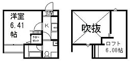 フォレスト川田[203号室号室]の間取り