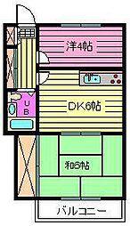 フジヤハイツ[203号室]の間取り