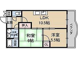 阪口ハイツ[2階]の間取り