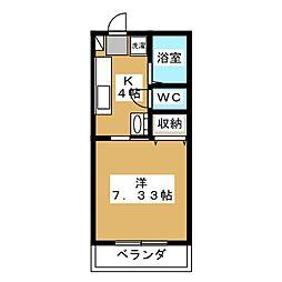 サン田むら[1階]の間取り