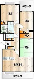 メゾンモンブラン富野台弐番館[3階]の間取り