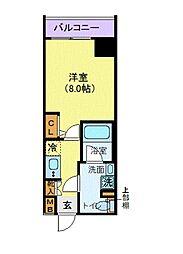 LEXE秋葉原East 9階1Kの間取り