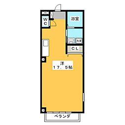 パタラシティー[4階]の間取り