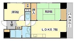 クリーンピア西二階町[504号室]の間取り