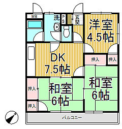 飯島第二ビル[302号室]の間取り