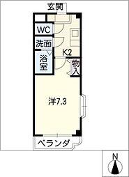 シンビリア亀島[1階]の間取り