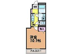 愛媛県松山市東石井1丁目の賃貸アパートの間取り