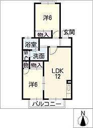 プレミールYAMA[2階]の間取り