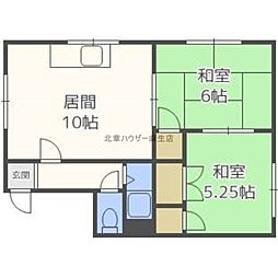 コーポサンエーB棟[2階]の間取り