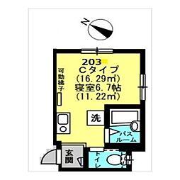 Well−B横濱反町II[0203号室]の間取り