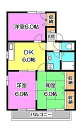 ハイムオマタ2[1階]の間取り