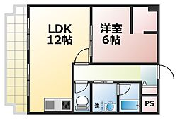 シティコート新大阪[4階]の間取り