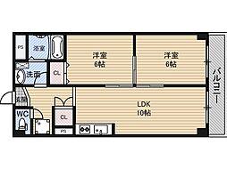 新大阪ハイツ[11階]の間取り