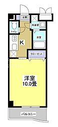 ラ・ソーティム・トゥ・プリムベル 3階1Kの間取り