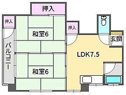 新光マンション[3階]の間取り