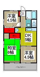 シティハイム松島[201号室]の間取り