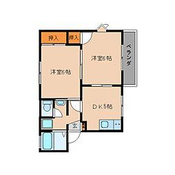 静岡県静岡市清水区七ツ新屋1丁目の賃貸アパートの間取り