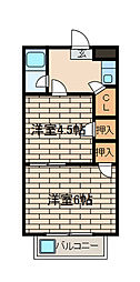 パークサイド相模[1階]の間取り