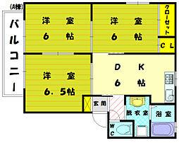 カーサニケ A[2階]の間取り