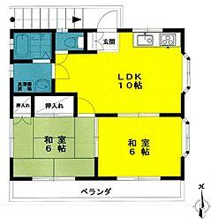 ウィステリア2[2階]の間取り
