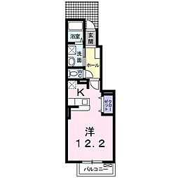 Osaka Metro谷町線 大日駅 徒歩20分の賃貸アパート 1階1Kの間取り