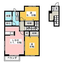 チャオ新井[2階]の間取り
