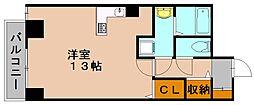 ピュアドーム博多リバーサイト[6階]の間取り
