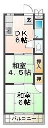 マンション朝霧1号館[3階]の間取り