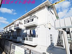 三重県津市桜橋2丁目の賃貸アパートの外観